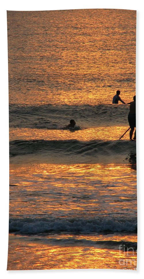 Art For The Wall...patzer Photography Beach Sheet featuring the photograph One With Nature by Greg Patzer