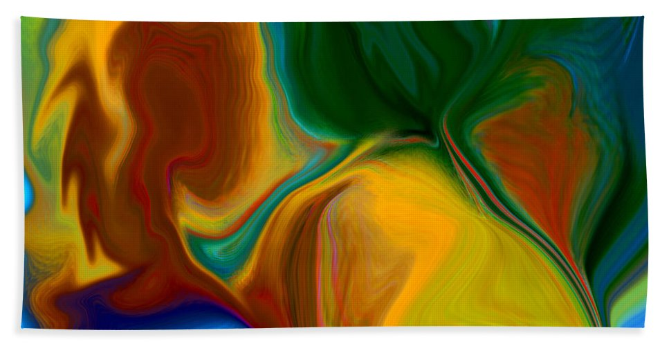 Beach Towel featuring the digital art Only One Love by Ruth Palmer