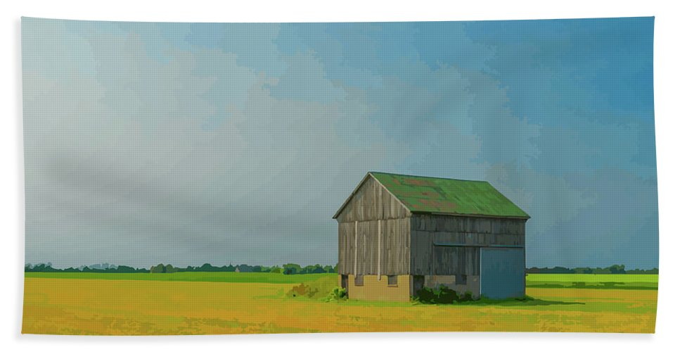 Barn Beach Towel featuring the photograph Ontario Barn 1 by Brian Shaw
