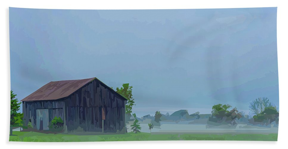 Barn Beach Towel featuring the photograph Ontario Barn 2 by Brian Shaw