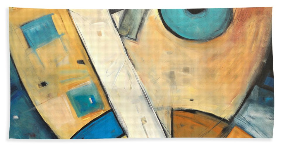 Face Beach Towel featuring the painting Ooo by Tim Nyberg