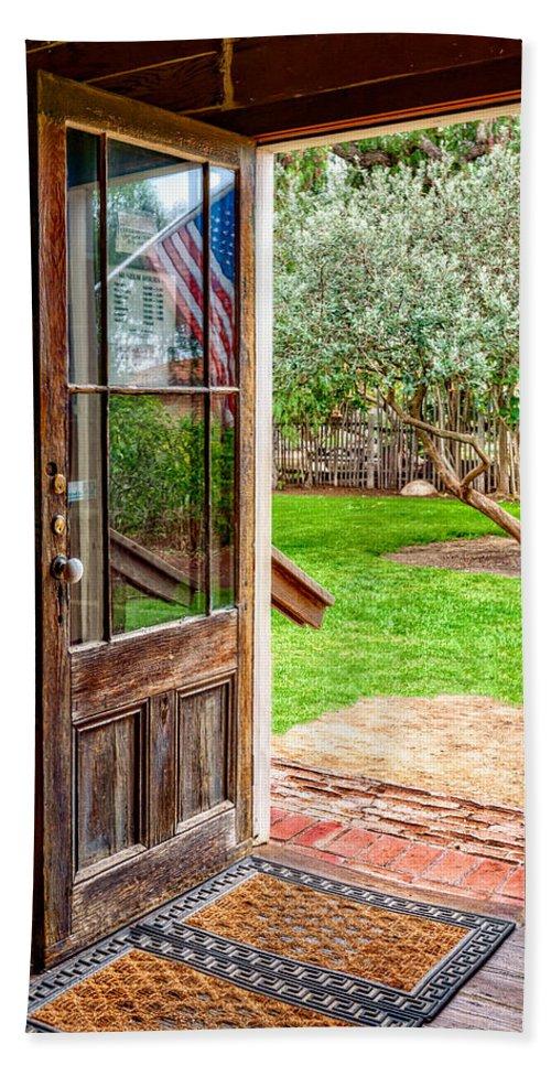 Door Beach Towel featuring the photograph Open Door by Christopher Holmes