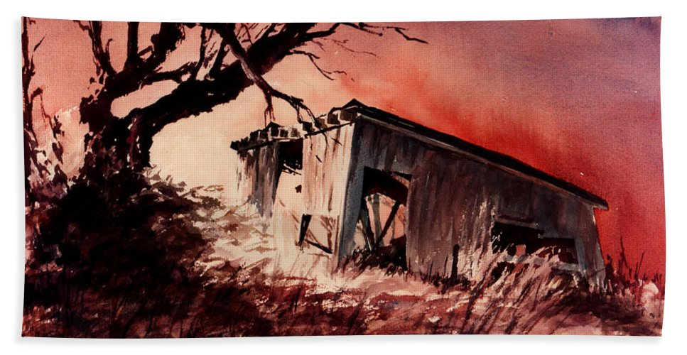 Landscape Beach Towel featuring the painting Open House by William Russell Nowicki