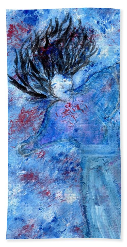 Ophelia Beach Towel featuring the painting Ophelia by Linda Bender