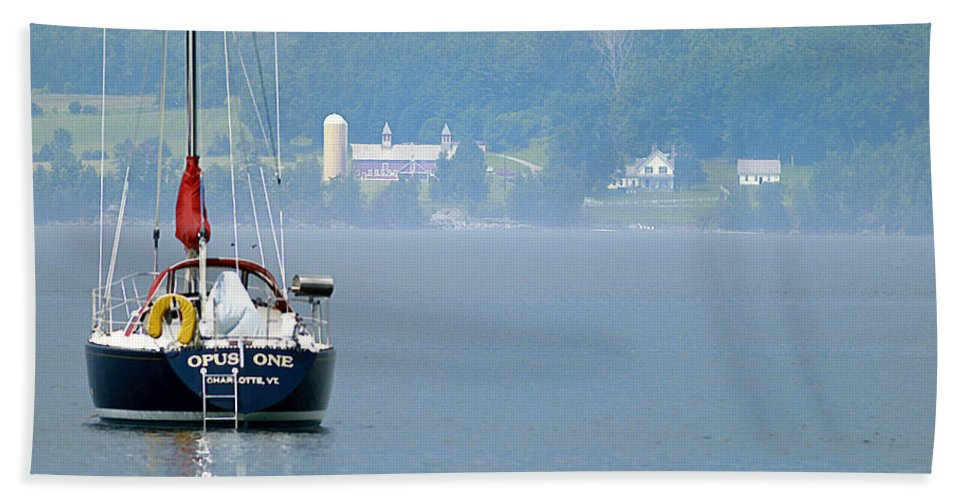 Boat Beach Towel featuring the photograph Opus One by Deborah Benoit