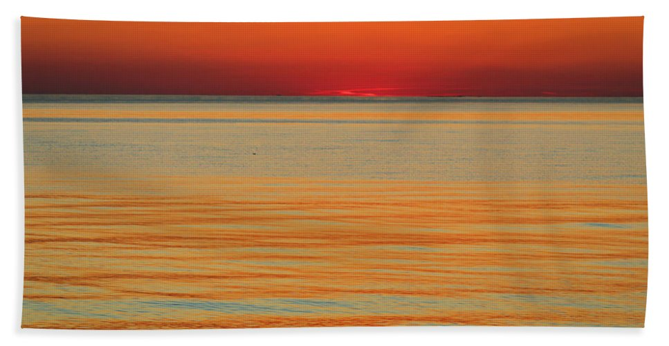 Sunset Beach Towel featuring the photograph Orange Glow by Terrie Stickle
