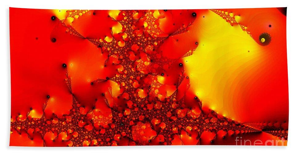 Clay Beach Sheet featuring the digital art Orange Peel by Clayton Bruster