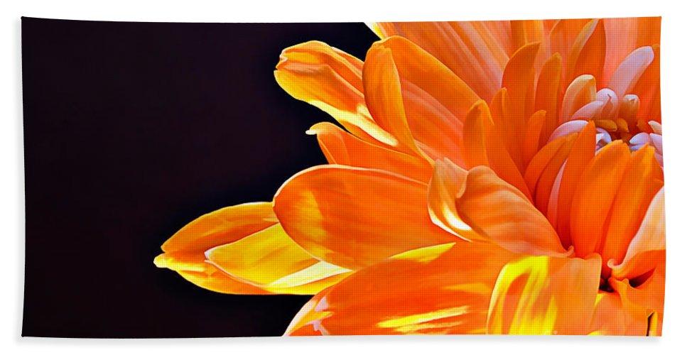 Orange Beach Towel featuring the photograph Orange Sherbet by Lois Bryan