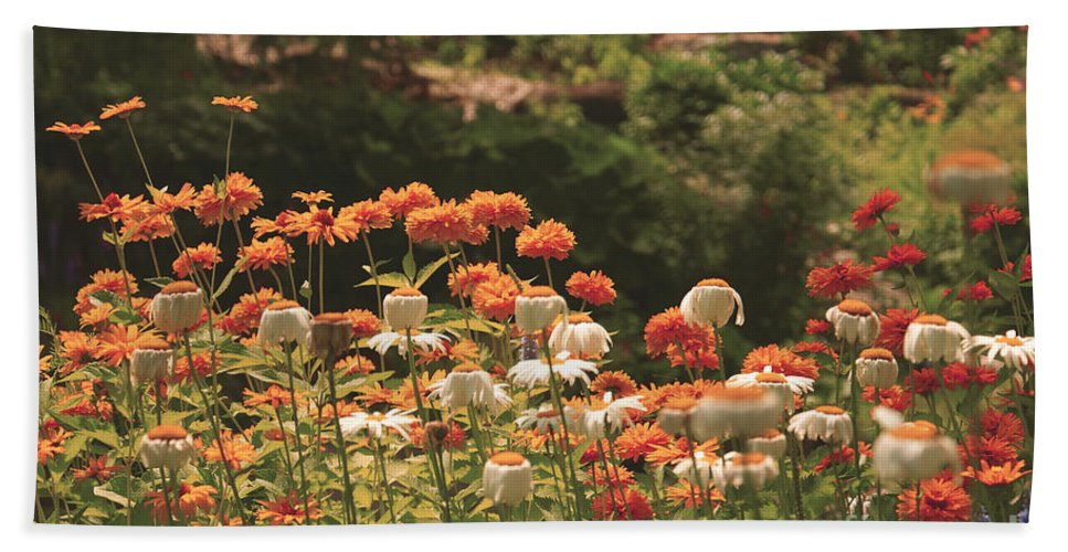 Flowers Beach Towel featuring the photograph Orangeade by Aimelle