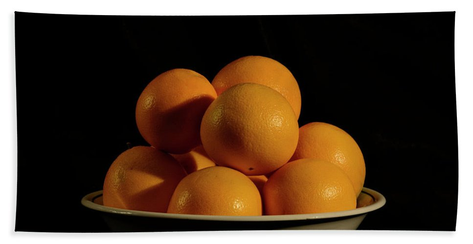 Fruit Beach Towel featuring the photograph Oranges by Angie Tirado