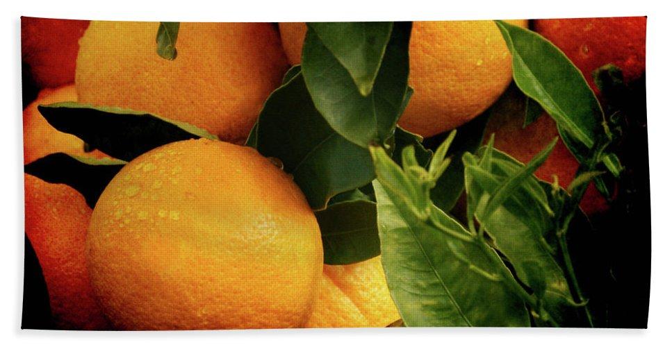 Oranges Beach Towel featuring the photograph Oranges by Ernie Echols