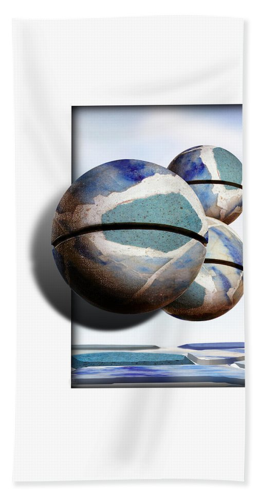 Magritte Beach Towel featuring the painting Orbiting Out by Gravityx9 Designs