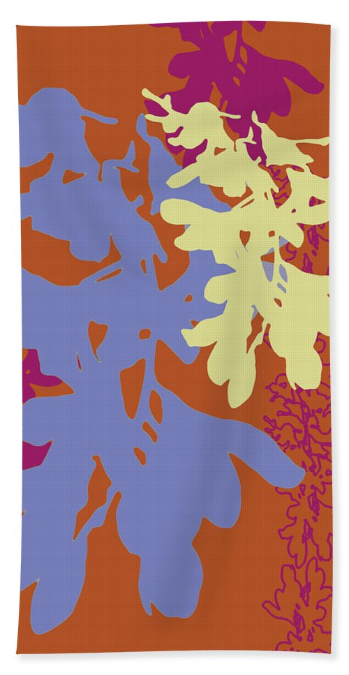 Lavender Beach Towel featuring the digital art Orchids Caramel by Ceil Diskin