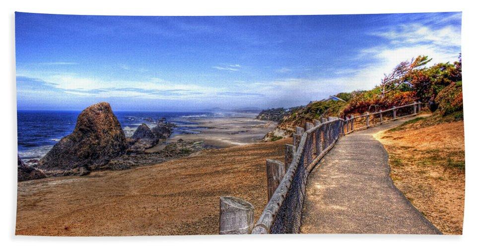 Scenic Beach Towel featuring the photograph Oregon Coast 2 by Lee Santa
