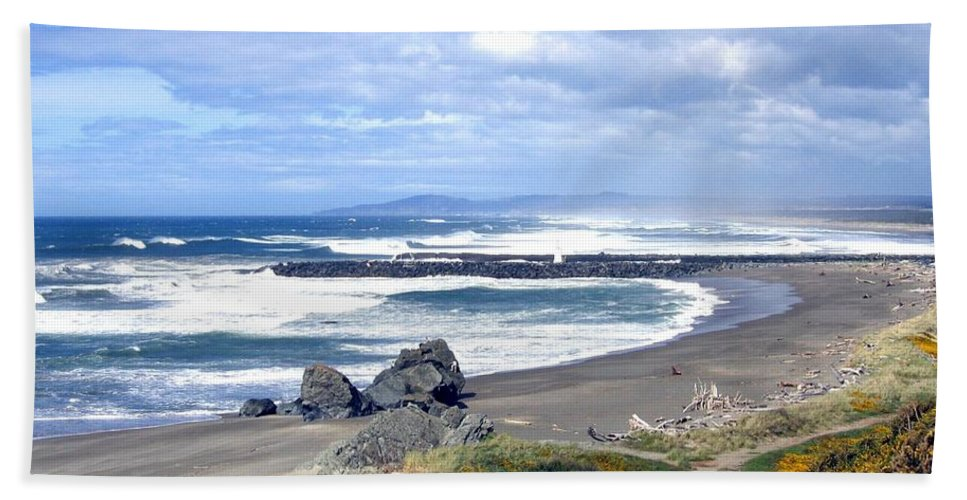 Bandon Beach Towel featuring the photograph Oregon Coast by Will Borden