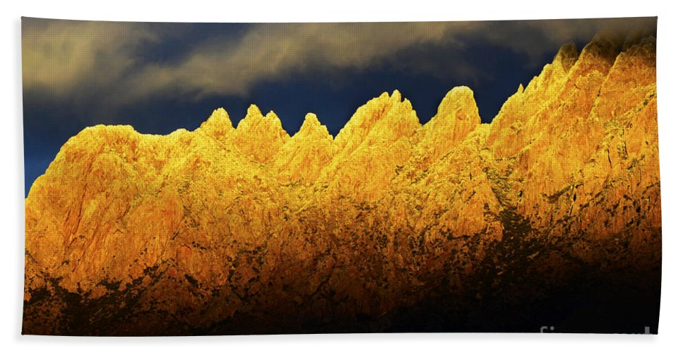 Organ Mountain Beach Towel featuring the photograph Organ Mountains Land Of Enchantment 1 by Bob Christopher