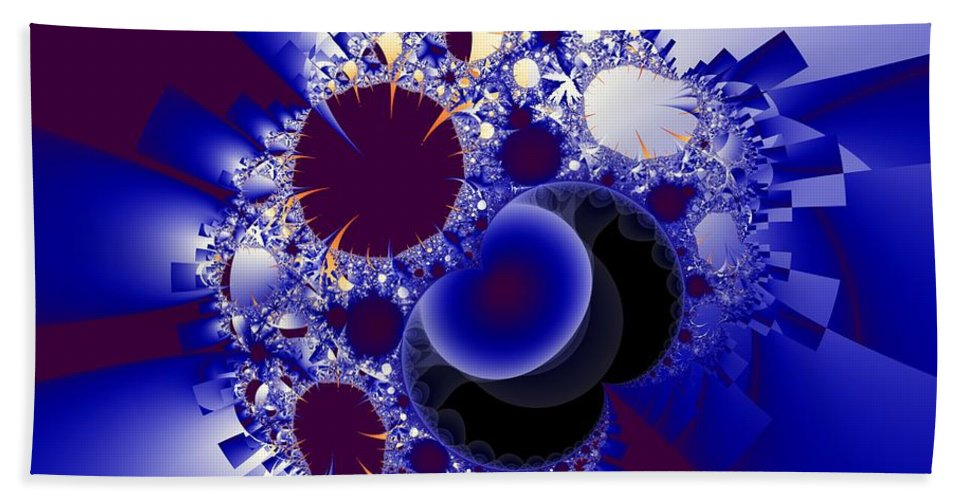 Fractal Image Beach Sheet featuring the digital art Organics And Geometry by Ron Bissett