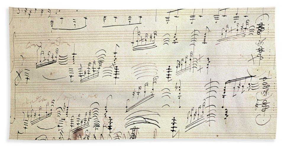 Original Score Of Beethoven's Moonlight Sonata Beach Sheet