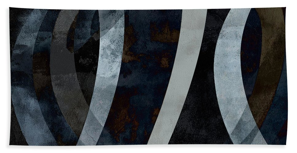 Abstract Beach Towel featuring the digital art Origins Square Abstract by Edward Fielding