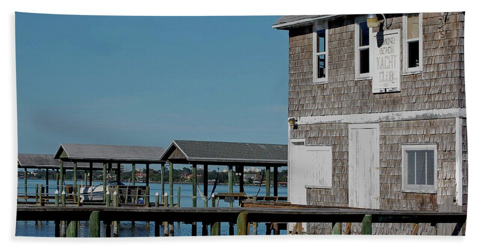 Historic Beach Towel featuring the photograph Ormond Yacht Club Est 1910 by DigiArt Diaries by Vicky B Fuller