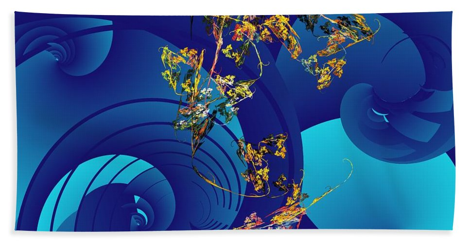 Fantasy Beach Towel featuring the digital art Orphaned by David Lane