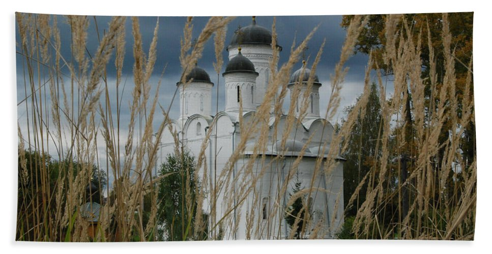 Antiquities Beach Towel featuring the photograph Orthodox Church In Mikulino by Sergei Dolgov