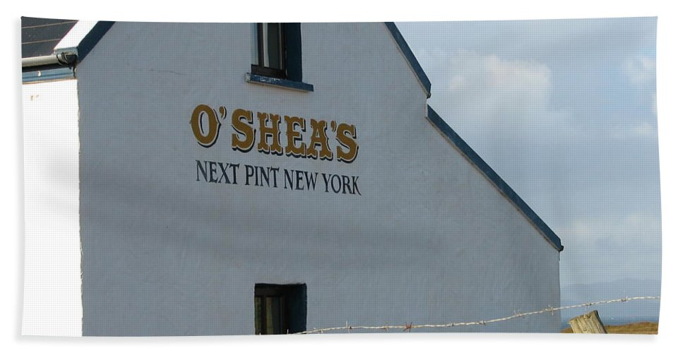 Pub Beach Towel featuring the photograph O'shea's by Kelly Mezzapelle