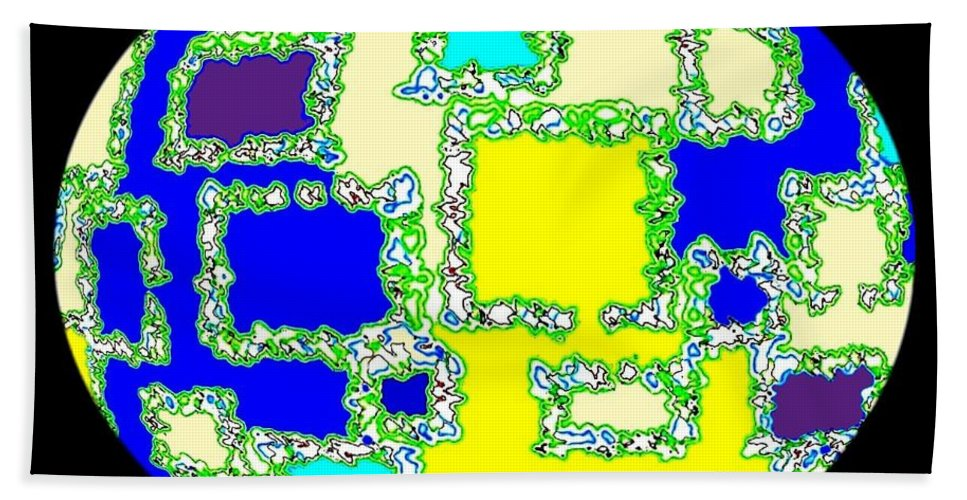 Abstract Beach Sheet featuring the digital art Ostrich Egg by Will Borden