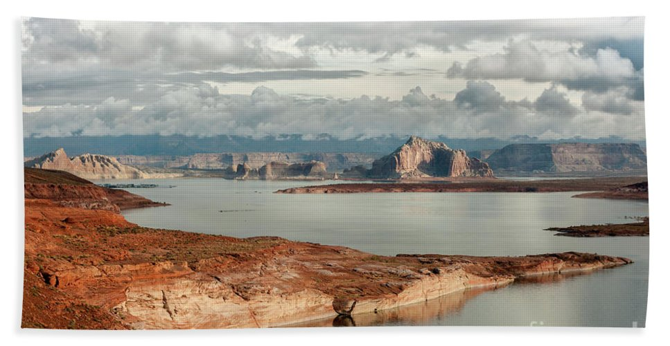 Southwest Beach Towel featuring the photograph Otherworldly Morning At Lake Powell by Sandra Bronstein