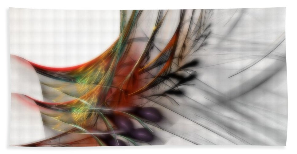 Abstract Beach Towel featuring the digital art Our Many Paths by NirvanaBlues