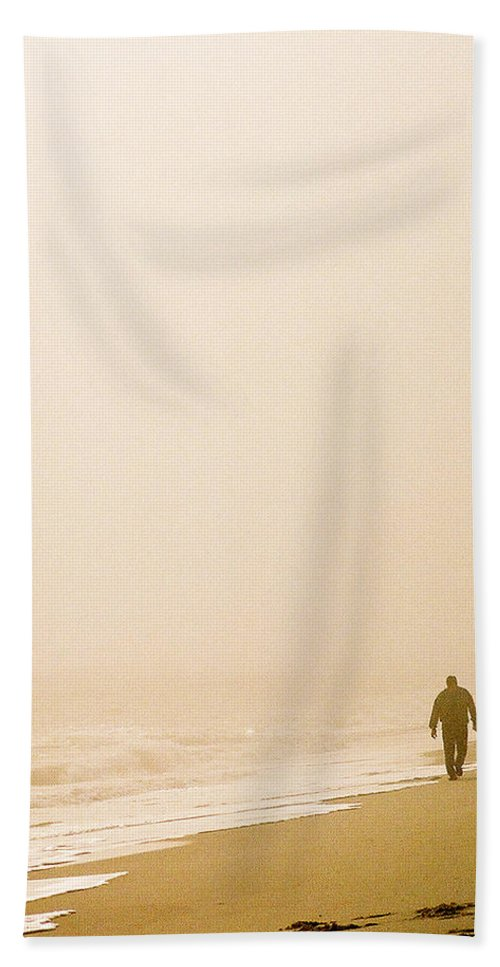 Landscape Beach Sheet featuring the photograph Out Of The Mist by Steve Karol