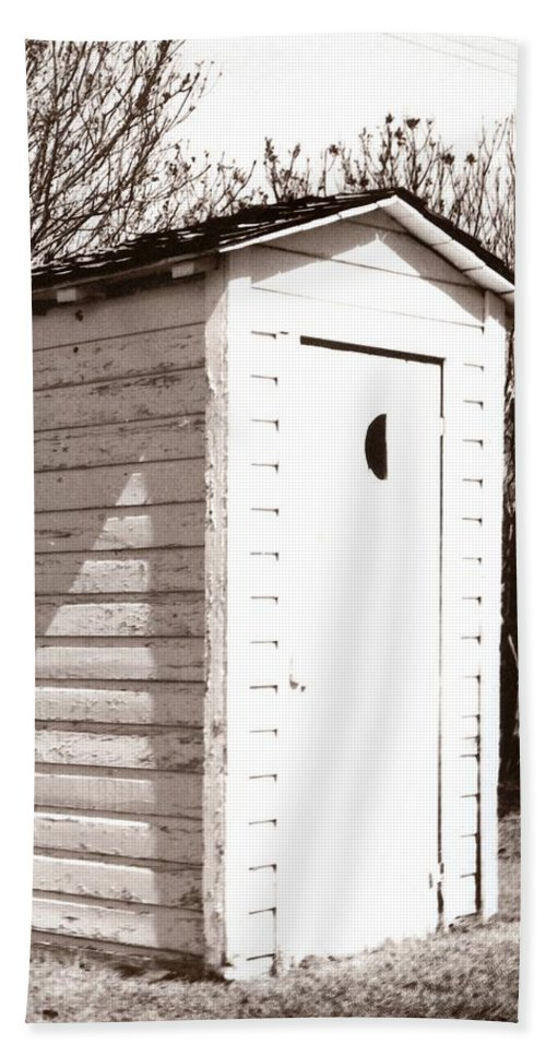 Outhouse Beach Towel featuring the photograph Outhouse by Marcin and Dawid Witukiewicz