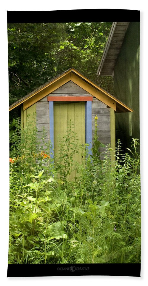 Outhouse Beach Towel featuring the photograph Outhouse by Tim Nyberg