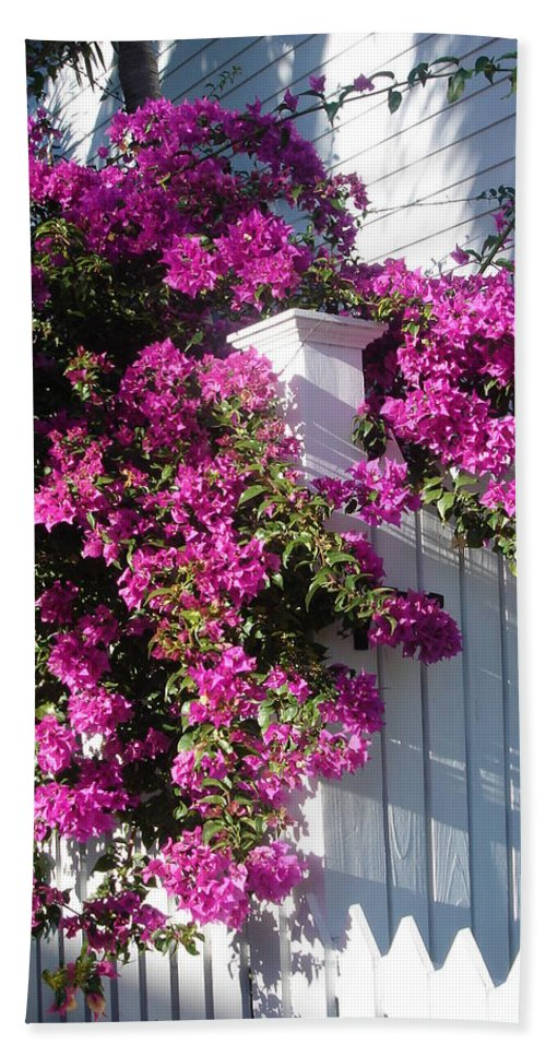 Flower Beach Towel featuring the photograph Over The Fence by Susanne Van Hulst