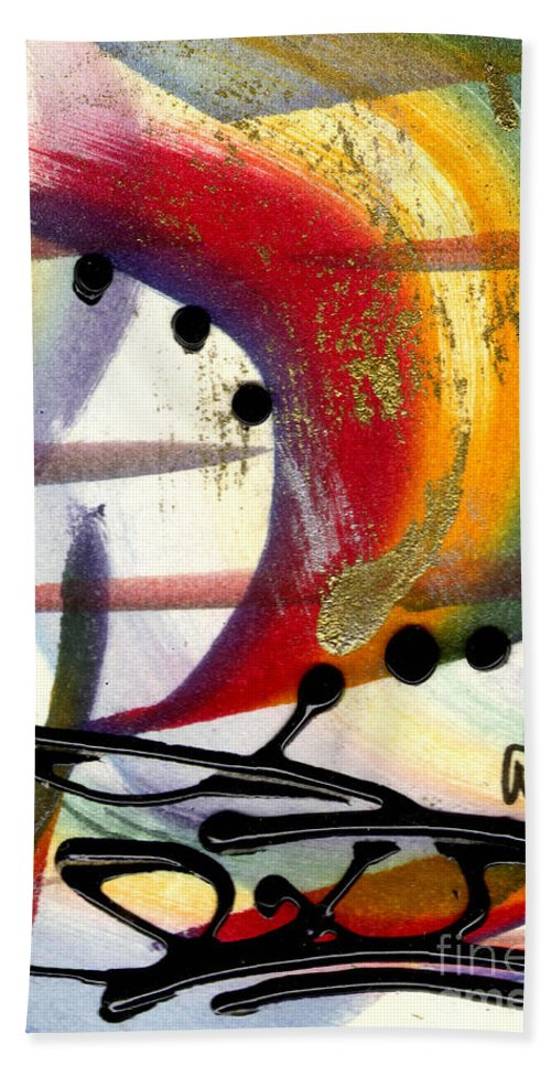 Vibrant Beach Towel featuring the mixed media Over The Rainbow by Angela L Walker