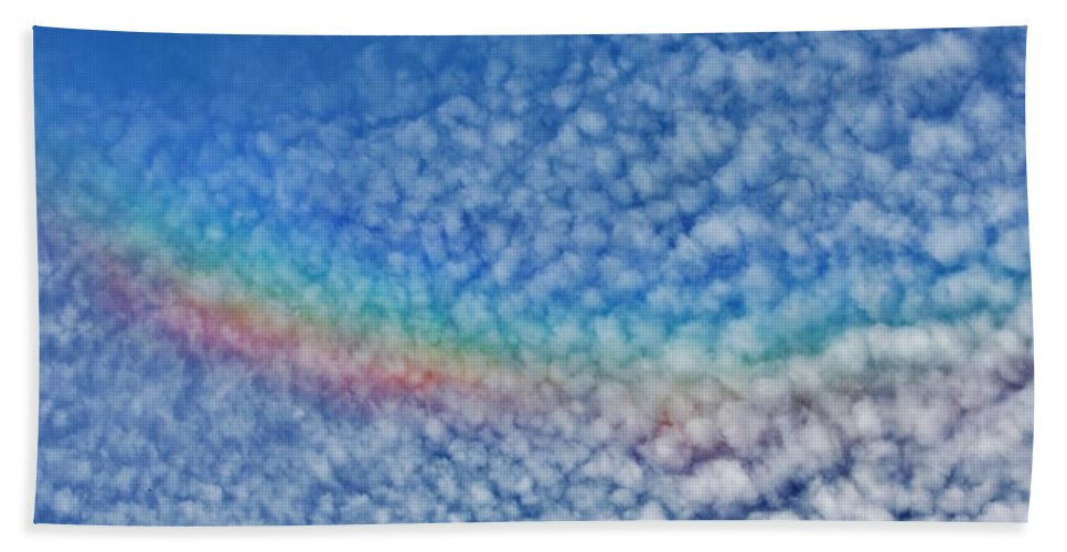 Rainbows Beach Towel featuring the photograph Over The Rainbow by Stacie Gary