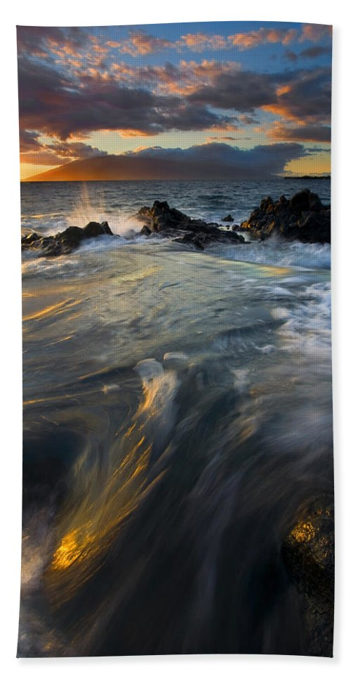 Cauldron Beach Towel featuring the photograph Overflow by Mike Dawson