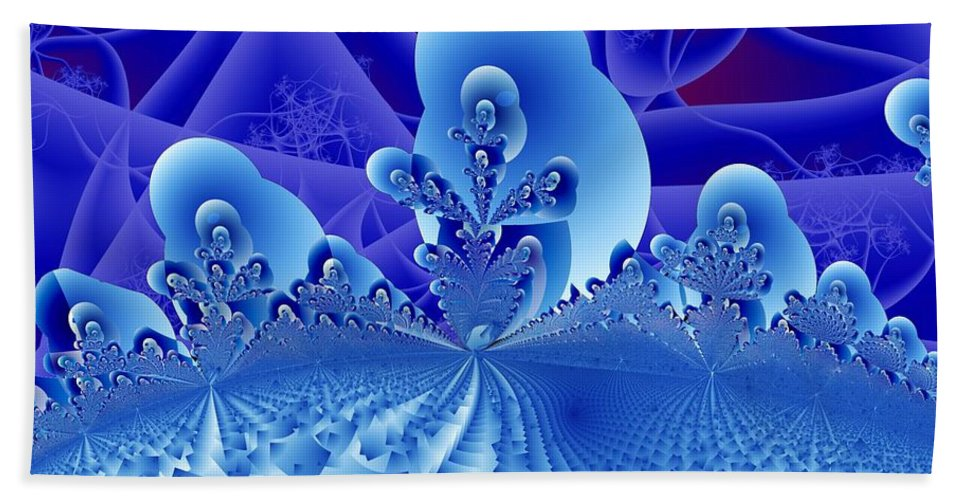 Fractal Image Beach Towel featuring the digital art Overlook by Ron Bissett