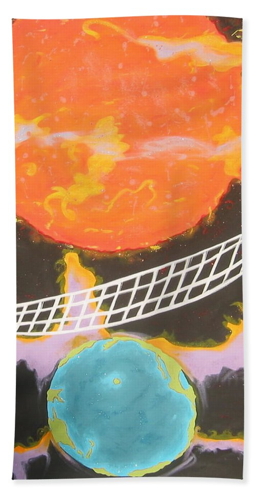 Environment Beach Towel featuring the painting Ozone Net by V Boge