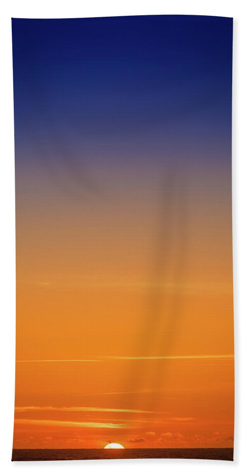 Pacific Ocean Beach Towel featuring the photograph Pacific Ocean Sunset by Mike Penney