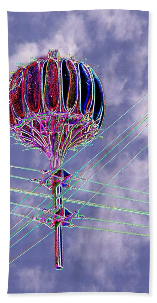 Seattle Beach Towel featuring the photograph Pacific Science Center Lamp 2 by Tim Allen