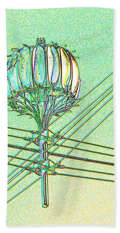 Seattle Beach Towel featuring the digital art Pacific Science Center Lamp by Tim Allen