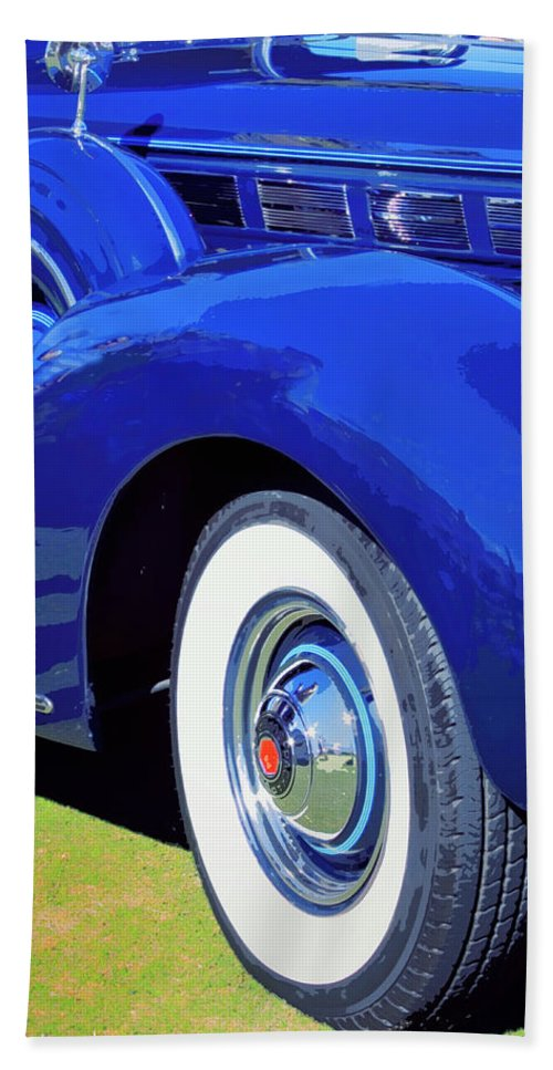 Blue Beach Towel featuring the photograph Packard Palm Springs by William Dey