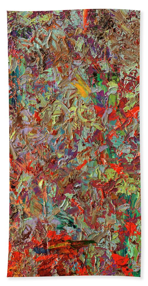 Abstract Beach Towel featuring the painting Paint Number 33 by James W Johnson