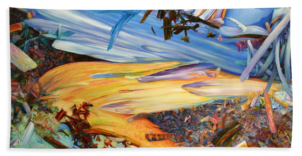 Abstract Beach Towel featuring the painting Paint Number 38 by James W Johnson