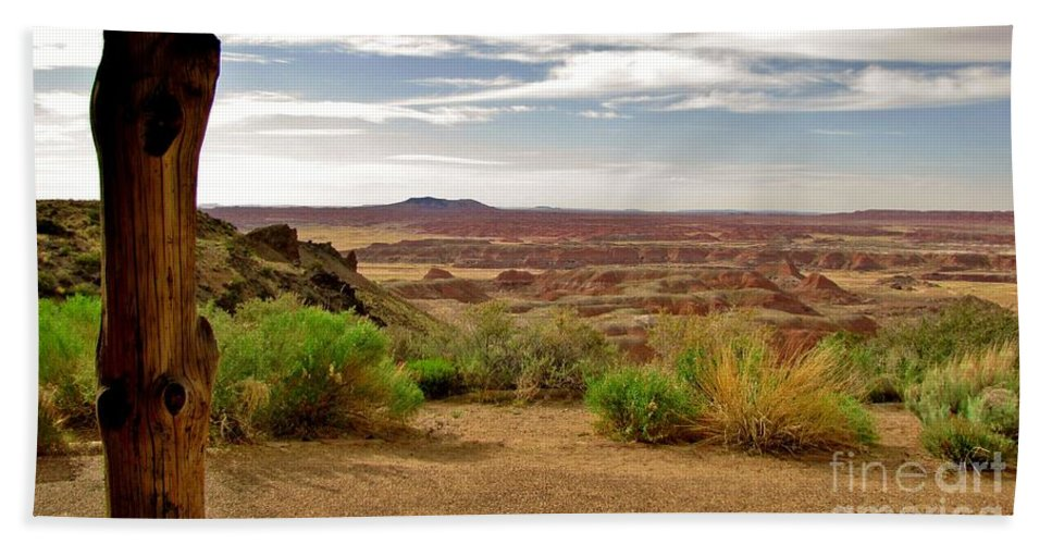Painted Desert Beach Towel featuring the photograph Painted Desert Vista by Marilyn Smith