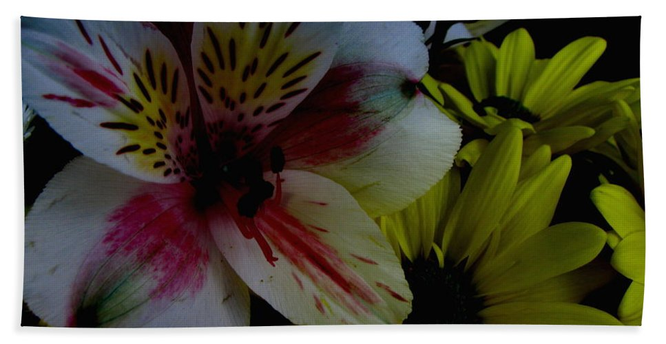 Art For The Wall...patzer Photography Beach Towel featuring the photograph Painted Lily by Greg Patzer