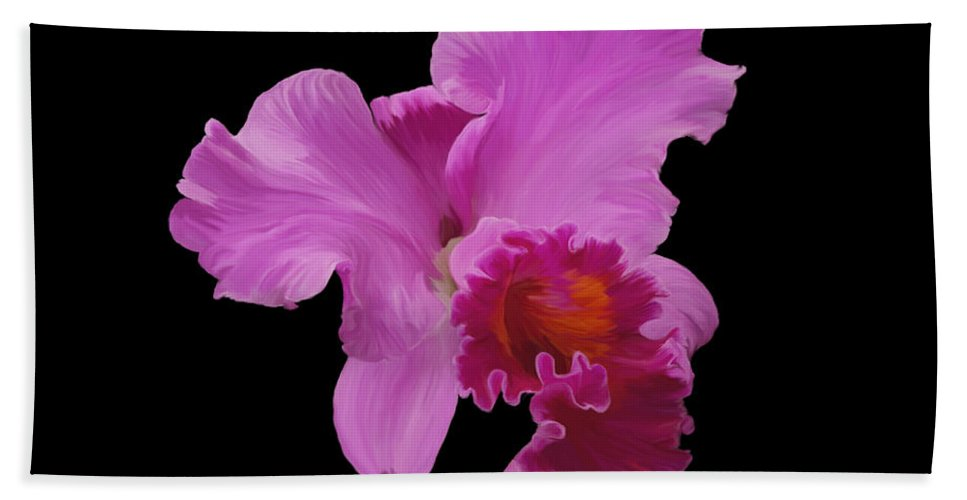 Orchid Beach Towel featuring the photograph Painted Orchid by Phyllis Denton