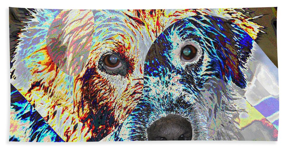 Dog Beach Towel featuring the photograph Painters Helper by Ericamaxine Price