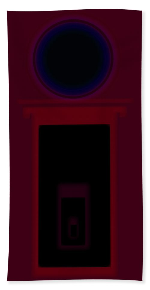 Palladian Beach Towel featuring the painting Palladian Red by Charles Stuart